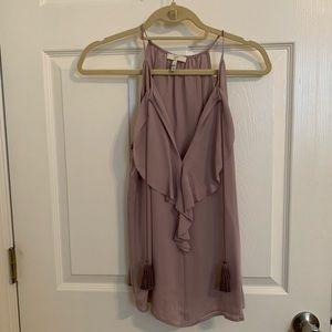 Joie lilac silk tank with tassel